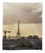 Paris City View 30  Fleece Blanket