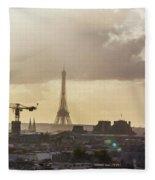 Paris City View 30 Art Fleece Blanket