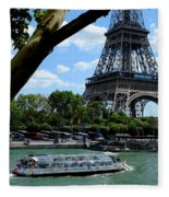 Paris Eiffel Boat Fleece Blanket