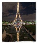 Paris Eiffel Tower Dazzling At Night Fleece Blanket