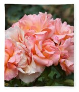 Paris Garden Roses Fleece Blanket