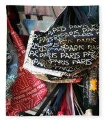 Paris Handbags Assorted Colors  Fleece Blanket