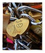 Paris Love Locks Paris France Color Fleece Blanket