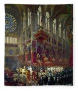Paris: Notre Dame, 1841 Fleece Blanket