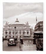 Paris Opera 1935 Sepia Fleece Blanket