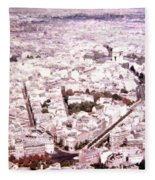 Paris Panorama 1955  Fleece Blanket