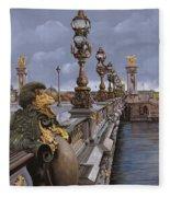 Paris-pont Alexandre Terzo Fleece Blanket