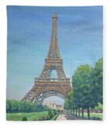 Paris Eiffel Tower Fleece Blanket