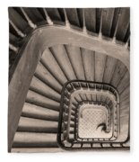 Paris Staircase - Sepia Fleece Blanket