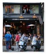 Paris Street Life 4 Fleece Blanket