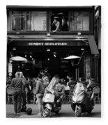 Paris Street Life 4b Fleece Blanket