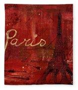Paris - V01ct1at2cc Fleece Blanket