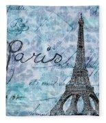 Paris - V01t01a Fleece Blanket