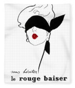 Paris Vintage Fashion Fleece Blanket