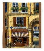 Parisian Bistro And Butcher Shop Fleece Blanket