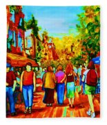 Parisian Cafes Fleece Blanket