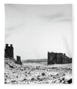 Park Avenue At First Light - Arches National Park Fleece Blanket