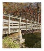 Park Bridge Autumn 3 Fleece Blanket