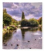 Park Lake Fleece Blanket