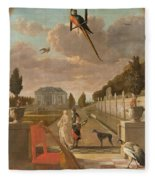 Park With Country House, Jan Weenix, 1670 - 1719 Fleece Blanket