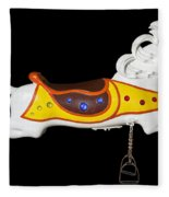 Parker Flying Carousel Horse 2 Fleece Blanket