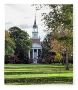 Parker Hall - Hanover College Fleece Blanket