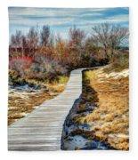Parker River Nwr Boardwalk Fleece Blanket