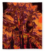 Parking Lot Palms 1 11 Fleece Blanket