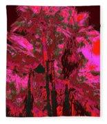 Parking Lot Palms 1 12 Fleece Blanket