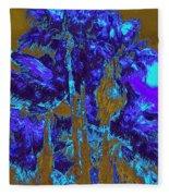 Parking Lot Palms 1 16 Fleece Blanket