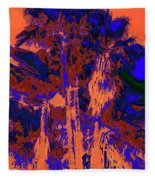 Parking Lot Palms 1 18 Fleece Blanket