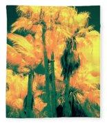 Parking Lot Palms 1 3 Fleece Blanket