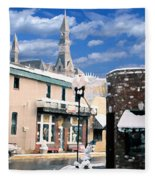 Parkville In Winter Fleece Blanket