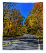 Parkway Road Nc Fleece Blanket