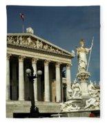 Parliament In Vienna Austria Fleece Blanket
