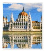 Parliament Of Budapest Fleece Blanket