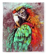 Parrot Art 09i Fleece Blanket