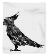 Parrot-black Fleece Blanket