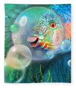 Parrot Fish - Through A Bubble Fleece Blanket