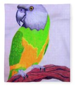 Parrot Portrait Fleece Blanket