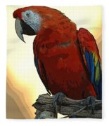 Parrot Watching Fleece Blanket
