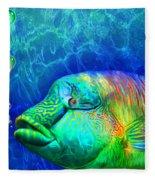 Parrotfish - Rainbow Spirit Fleece Blanket