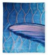 Parrotfish Scales Fleece Blanket