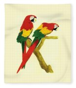 Parrots Fleece Blanket