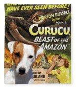 Parson Russell Terrier Art Canvas Print - Curucu  Movie Poster Fleece Blanket