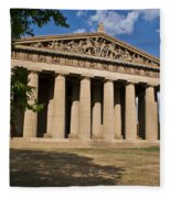 Parthenon Nashville Tennessee From The Shade Fleece Blanket