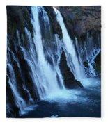 Partial Side View Of Burney Falls Ca Fleece Blanket