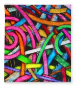 Particle Track Forty-one Fleece Blanket