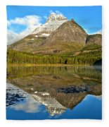 Partly Cloudy Fishercap Reflections Fleece Blanket