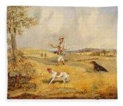 Partridge Shooting  Fleece Blanket